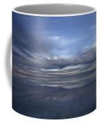 A Fading Sunset Reflects Off The Still Coffee Mug