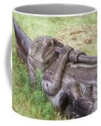 A Fallen Wooden Totem Pole Lies Coffee Mug