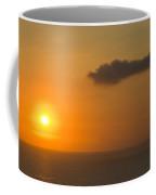 A Flaming Tropical Island Sunset Coffee Mug