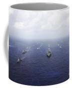 A Fleet Of U.s. Navy And Japan Maritime Coffee Mug