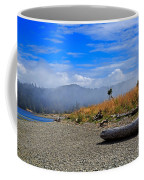A Foggy Morning At Whiffin Spit Coffee Mug