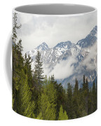 A Forest And The Rocky Mountains Coffee Mug