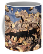 A Fossilized T. Rex Bursts To Life Coffee Mug