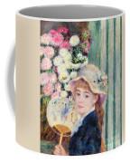 A French Girl With A Fan Coffee Mug