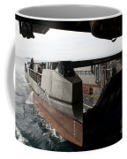 A French Landing Catamaran Prepares Coffee Mug