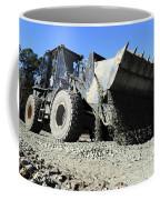 A Front End Loader Raising A Road Bed Coffee Mug