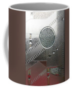 A Frosted Glass Window With An Interesting Pattern Coffee Mug