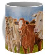 A Gathering Of Cows Coffee Mug