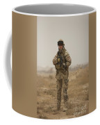 A German Army Soldier Armed With A M4 Coffee Mug by Terry Moore