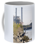 A Great Blue Heron Ardea Herodias Coffee Mug