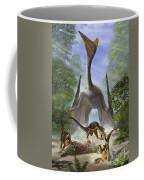A Group Of Balaur Bondoc Dinosaurs Coffee Mug