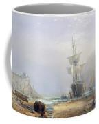 A Hazy Morning On The Coast Of Devon Coffee Mug