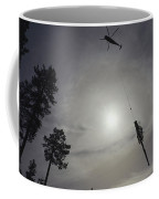 A Helicopter Lifts Cut Timber Coffee Mug