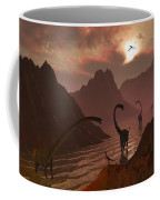 A Herd Of Omeisaurus Dinosaurs Coffee Mug