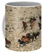A Herd Of Wild Horses Gallops Coffee Mug
