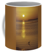 A Heron Wades In The Shallow Water Coffee Mug