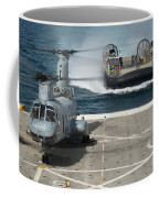 A Hovercraft Approaches Uss New Orleans Coffee Mug
