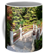 A Japanese Garden Bridge From Sun To Shade Coffee Mug