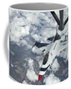 A Kc-135 Stratotanker Refuels An Air Coffee Mug