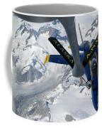 A Kc-135 Stratotanker Refuels An Fa-18 Coffee Mug