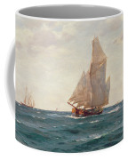 A Ketch And A Brigantine Off The Coast Coffee Mug