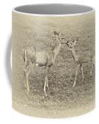 A Kiss For Mom Sepia Coffee Mug