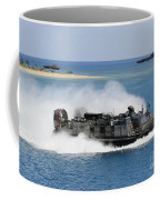 A Landing Craft Air Cushion Approaches Coffee Mug