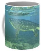 A Late Devonian Period Ichthyostega Coffee Mug