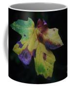 A Leaf Left Black And Blue  Coffee Mug
