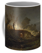 A Lime Kiln At Coalbrookdale Coffee Mug by Joseph Mallord William Turner