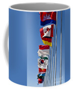 A Line Of Flags Represent The Countries Coffee Mug