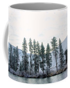 A Line Of Trees In Winter  Coffee Mug