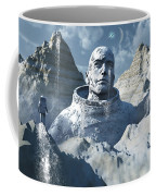 A Lone Astronaut Stares At A Statue Coffee Mug