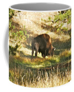 A Lone Bison In Yellowstone 9467 Coffee Mug