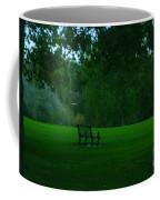 A Lonely Autumn Bench  Coffee Mug