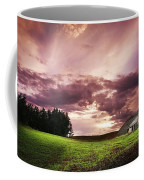 A Lonely Farm Building In An Open Field Coffee Mug