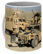 A M1114 Humvee Sits Parked In Front Coffee Mug