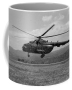 A Macedonian Mi-17 Helicopter Landing Coffee Mug