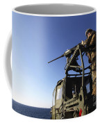 A Machine Gunner Mounts A M-2 Coffee Mug