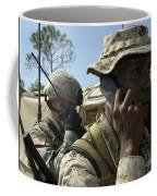 A Marine Communicates With Aircraft Coffee Mug