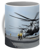 A Marine Mh-53 Helicopter Takes Coffee Mug