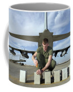 A Marine Replaces Flares In Flare Coffee Mug by Stocktrek Images