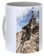 A Marine Sets Up A Laser Designator Coffee Mug by Stocktrek Images