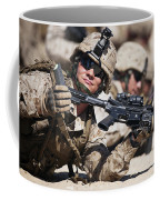 A Marine Shows His Cleared Weapon Coffee Mug