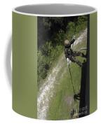 A Midshipman Rappels Down A Wall Coffee Mug