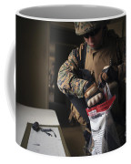 A Military Policeman Collects Materials Coffee Mug