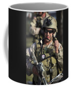 A Military Reserve Navy Seal Gives Coffee Mug
