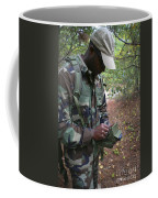 A Military Technician Uses A Pda Coffee Mug by Michael Wood