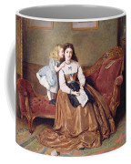 A Mother's Darling Coffee Mug by George Goodwin Kilburne