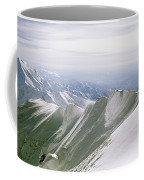 A Mountain Climber Hikes Coffee Mug